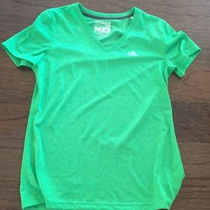 Barely worn green adidas Ultimate tee